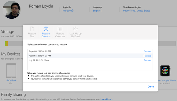how to add contacts to icloud drive