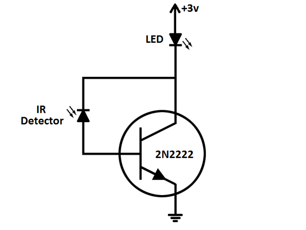 Simple LED test circuit schematic