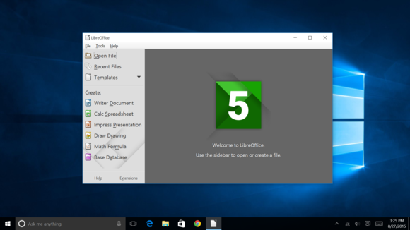 libreoffice on windows 10