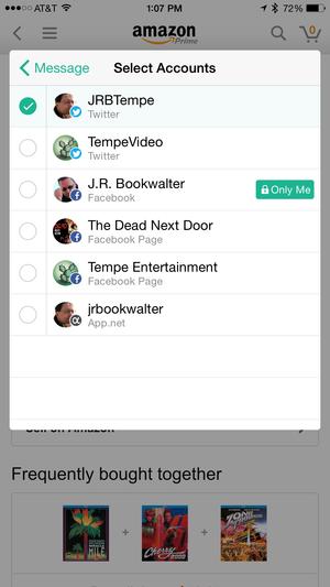 linky iphone select accounts
