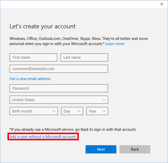 How to create a local account in windows 10 pcworld - Create account in office 365 ...