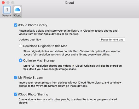 mac 911 photos icloud options