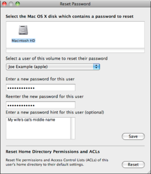 mac 911 reset home directory permissions