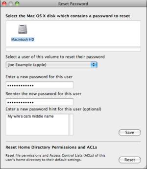 mac 911 reset home directory permissions