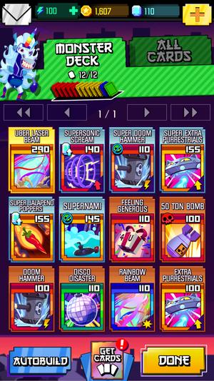 monsters deck