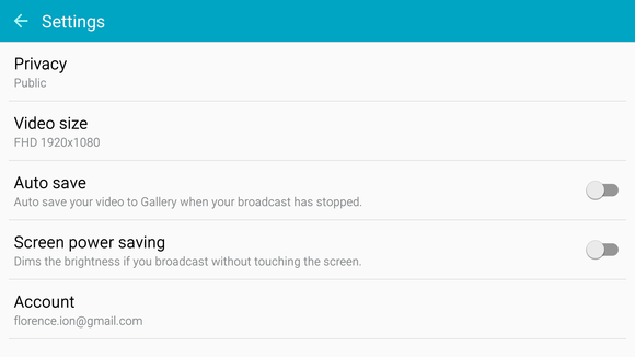 note5 live broadcast settings