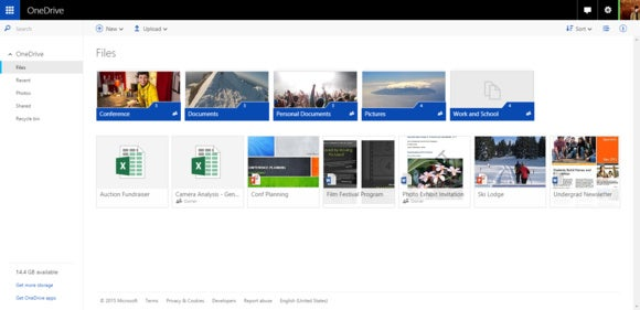 onedrive web interface