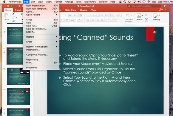 Office 2016 for Mac: Save As