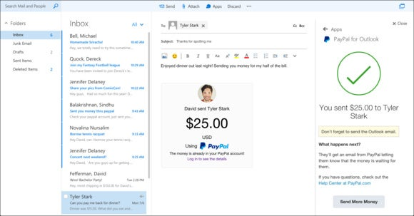 paypal Outlook