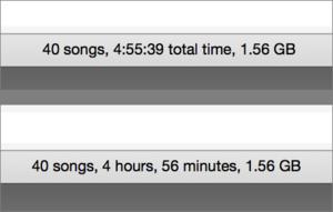 playlist minutes