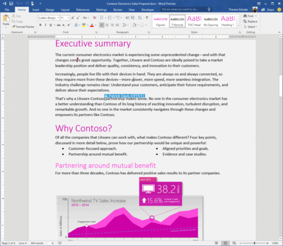 preview real time co authoring on onedrive