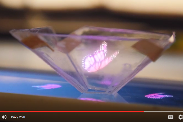 Watch video: A smartphone hologram project that even a
