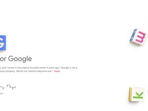 Alphabet homepage