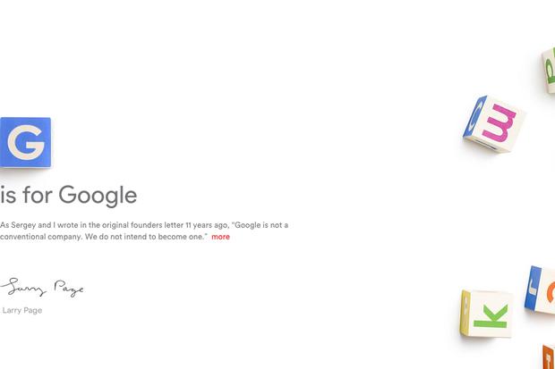 Google restructures, naming parent company Alphabet