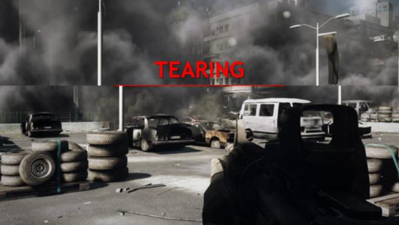 screen tearing example