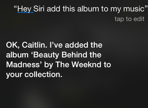 siri apple music my music