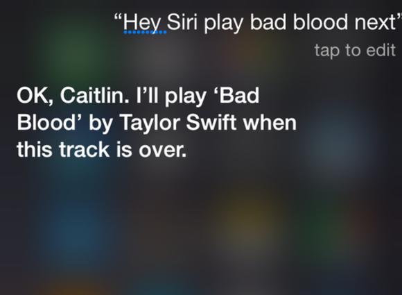 siri apple music up next