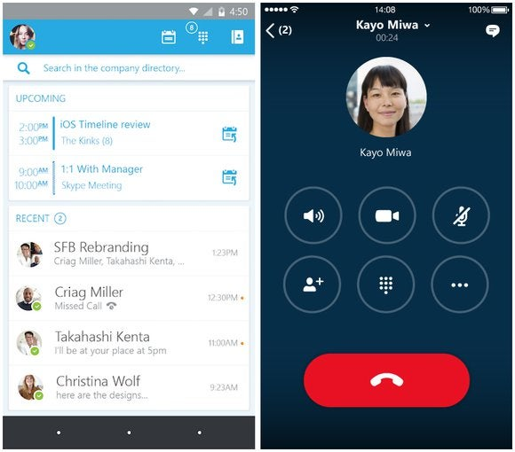 how to put on skype notification on android