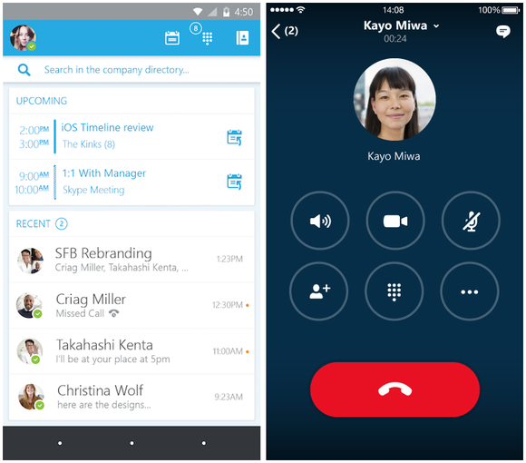skype for business android