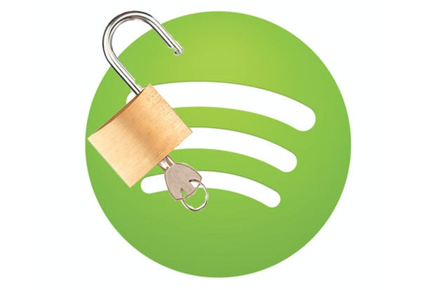 spotify logo with lock