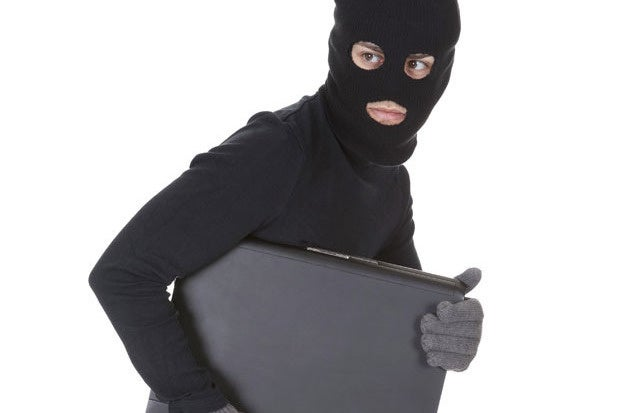 steal thief theft burglar laptop secret crime