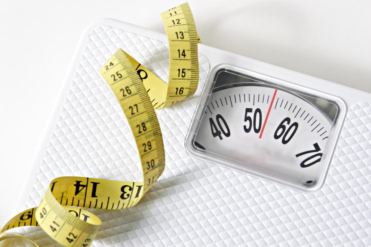 healthcare scale and tape measure
