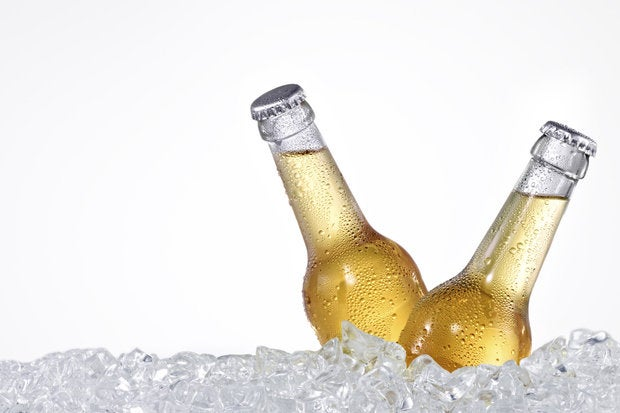 2 beers on ice