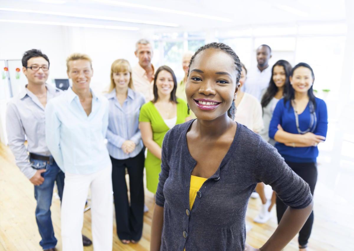 group of diverse millennials