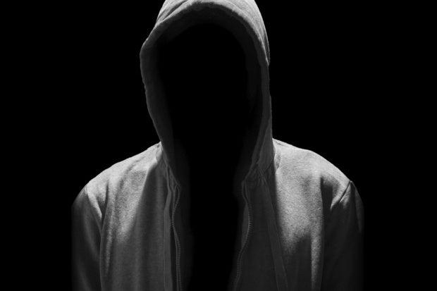 hacker in shadow