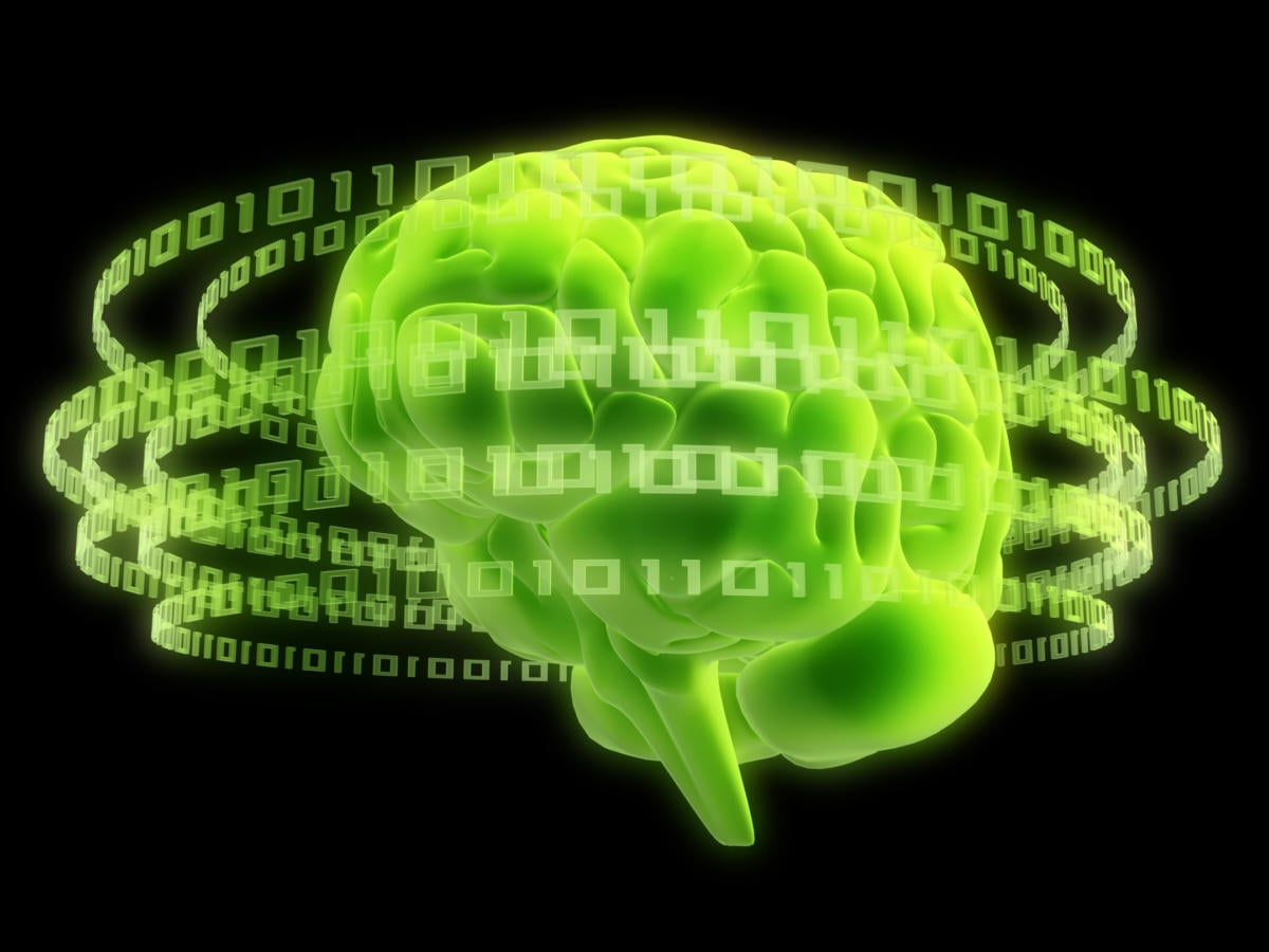 abstract artificial intelligence brain