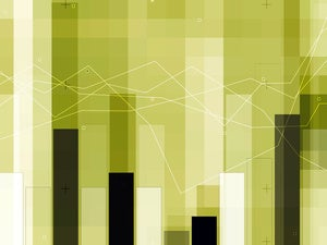 abstract bar charts for financial background