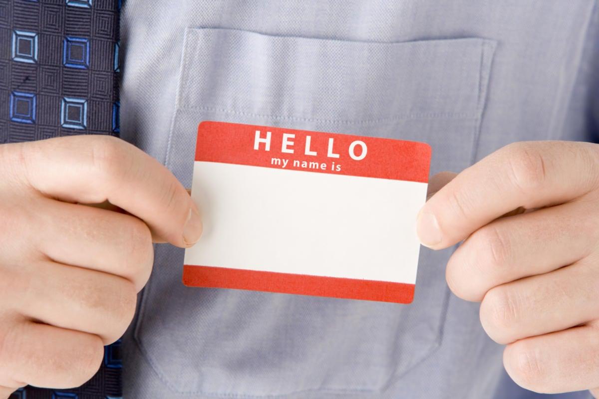 thinkstockphotos hello my name is