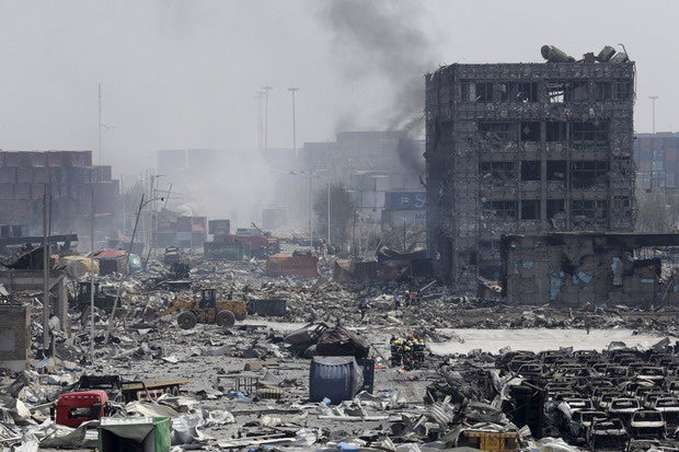 tianjin china explosion