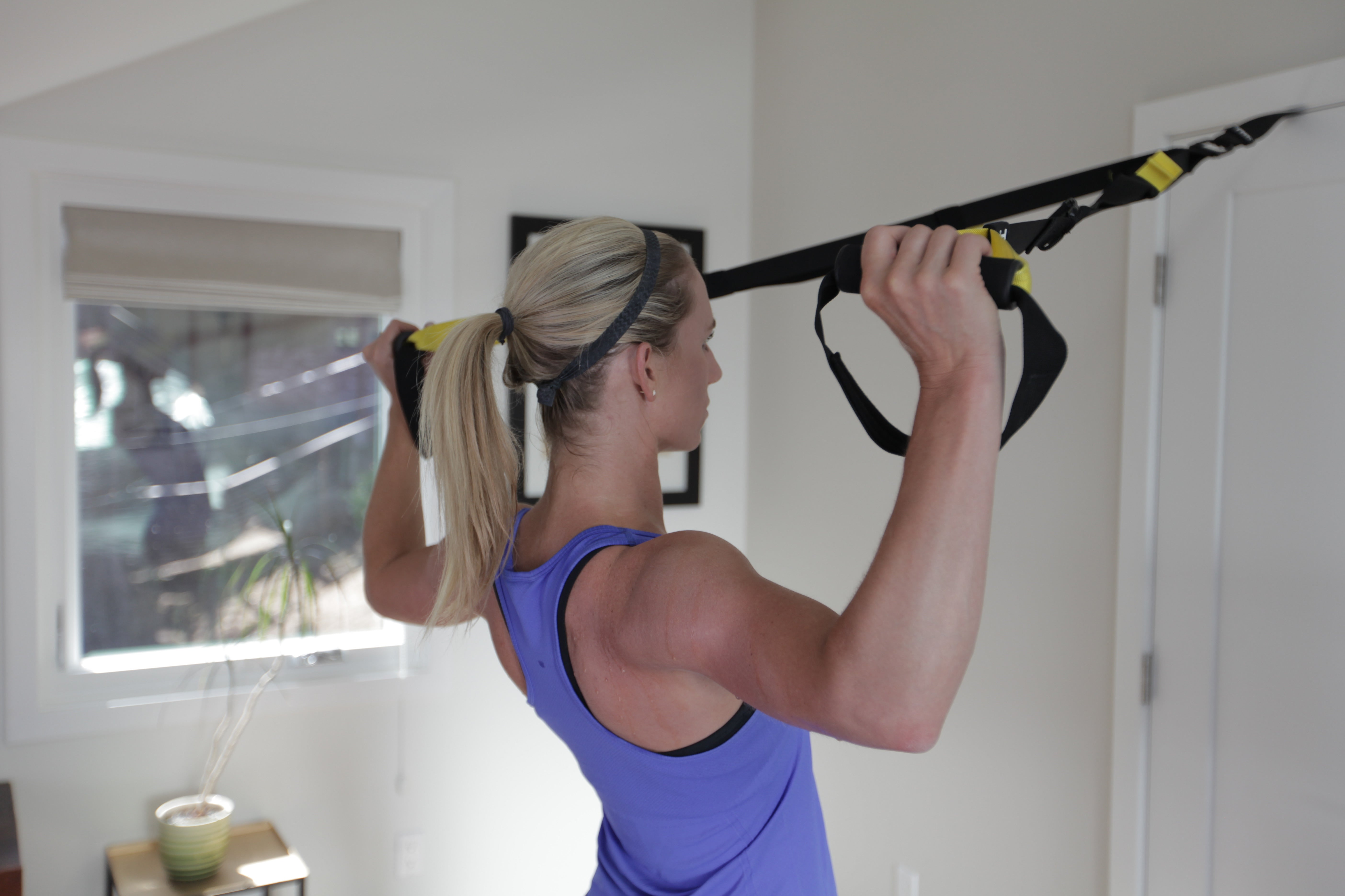 TRX Home Hooks Over Any Door, Giving You Access To A Weight Free Gym System  In Your Dorm Room. Part 88