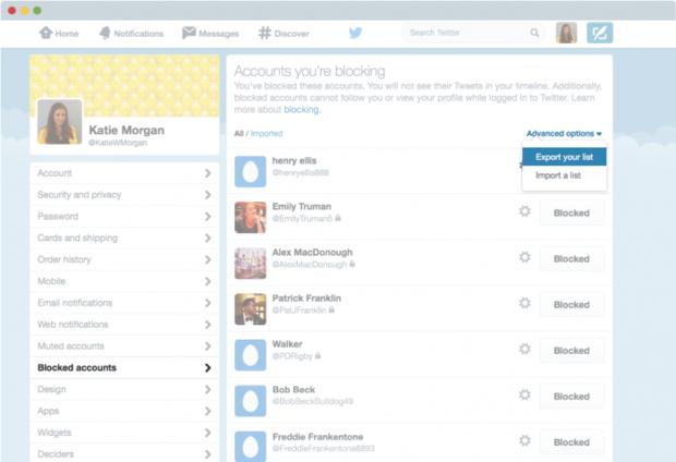 Blocking Twitter Accounts