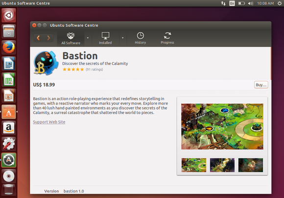 ubuntu software center bastion