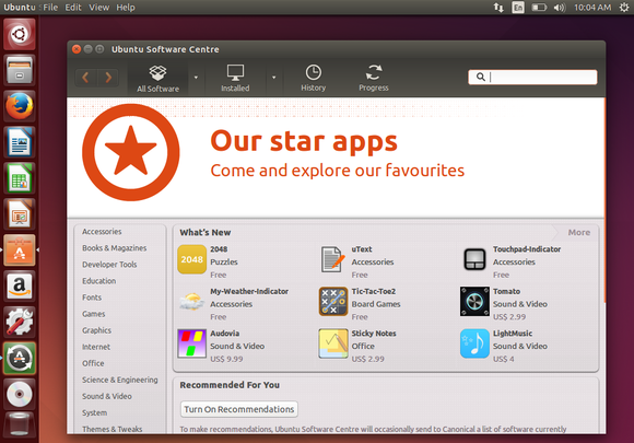 ubuntu software center whats new
