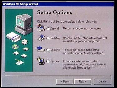 Windows 95 Setup Wizard
