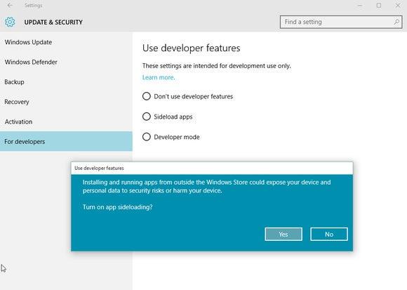 windows 10 app sideloading