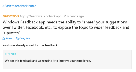 windows 10 feedback app