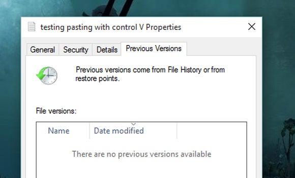 windows 10 previous versions