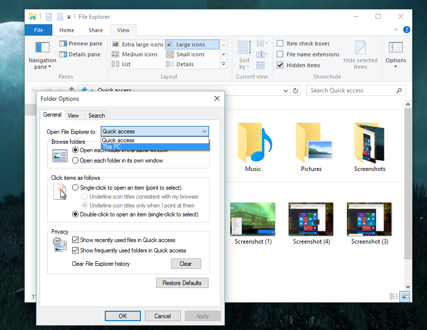 How to disable Windows 10 File Explorer's new Quick Access