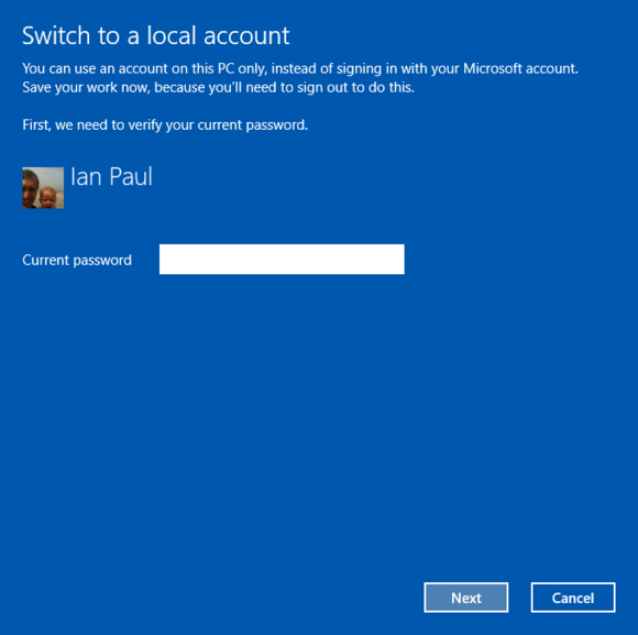 windows10 privacy windows10localaccount