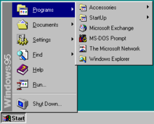 Windows 95 Start menu