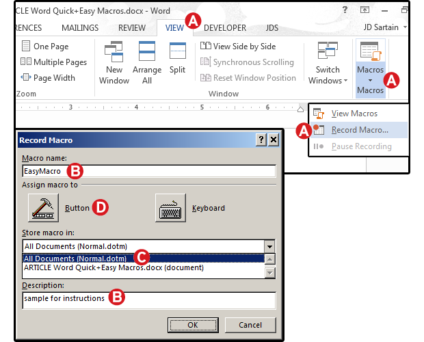 Word Macros Three Examples To Automate Your Documents Pcworld