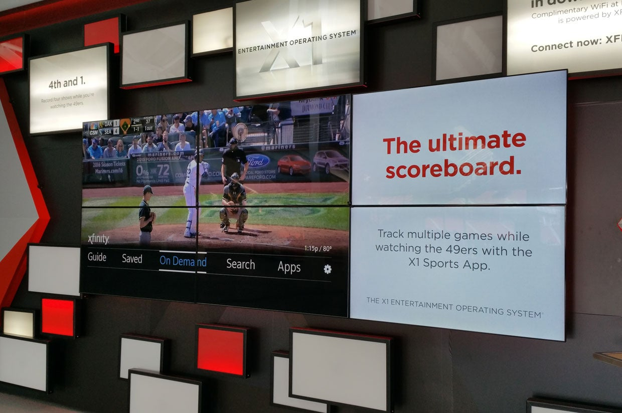 Comcast adds fantasy stats and eye candy to its Xfinity X1 sports