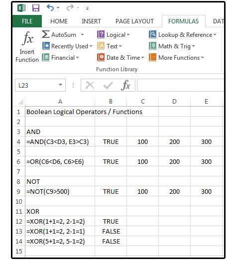 Excel Boolean Logic How To Sift Spreadsheet Data Using And Or Not