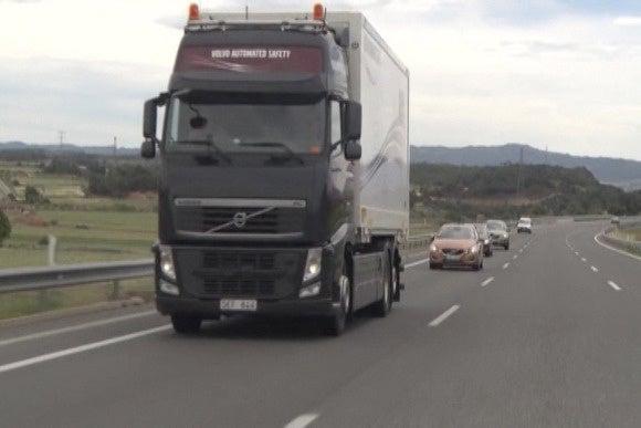 Volvo truck road train