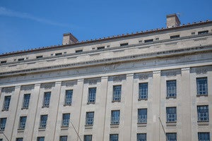 The Department of Justice building in Washington, D.C.