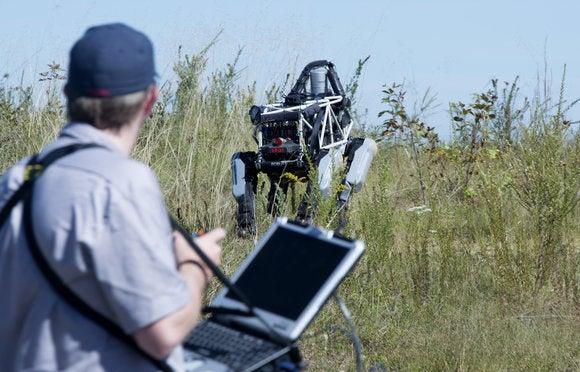 Boston Dynamics Spot robot and operator at Quantico